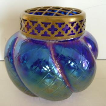 Art Nouveau Kralik Rose Bowl