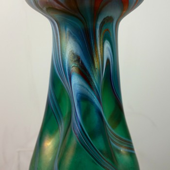 Rindskopf pulled feather vase, ca. 1900 - Art Glass