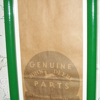 PRE-1950'S John Deere paper bag - Advertising