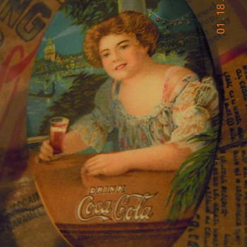 1909 Coca-Cola Pocket Mirror - Coca-Cola