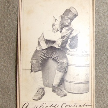 Civil War era racist/ derogatory black face cdv - Photographs