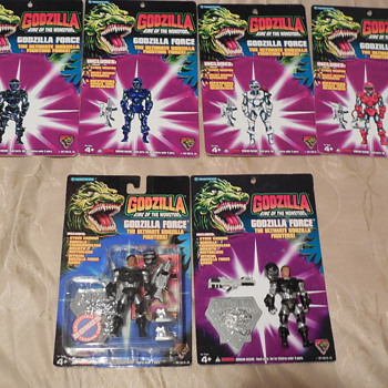 Trendmasters Godzilla G-force prototype samples - Toys