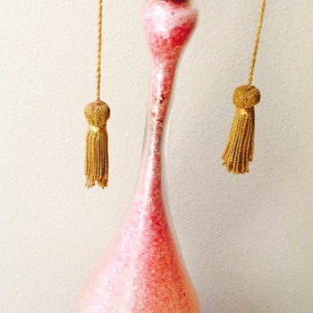 Tall Pink and Silver Murano Lamp