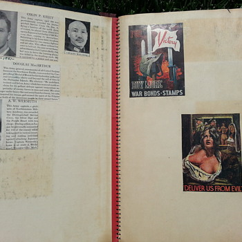 WW 2 History Journal /WW2 War Bond Stamp & Union Pacific WW2 Stamps/Newspapers (11/11/1942-10/31/43)   - Stamps