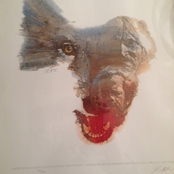 """Never Cry Wolf"" Signed and nubmered Lithograph - Movies"