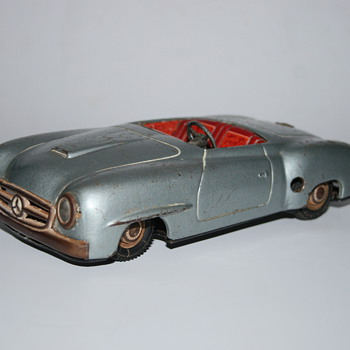 JNF mercedes 190 convertible tin toy - Model Cars