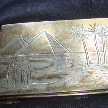 Egyptian religious silver 925 box