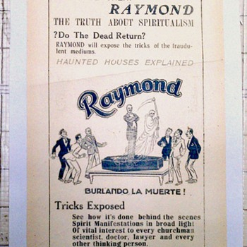 &quot;The Great Raymond&quot; Original 1929 Handbill