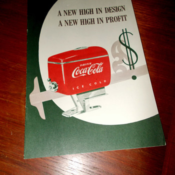 1950s Coca-Cola Fountain Dispenser brochure