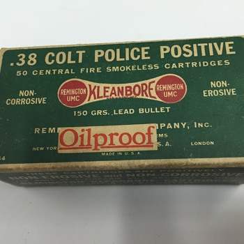 Unusual .38 Colt Police Positive Ammo Box. When? - Sporting Goods