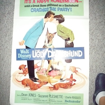 "Disney's ""The ugly Dachshund"" One Sheet Movie Poster Lithograph - Posters and Prints"