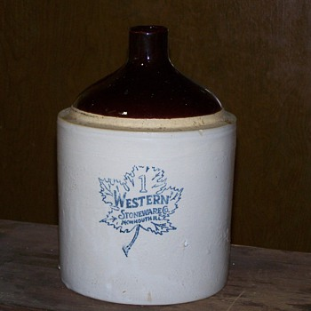Western Stoneware of Mammouth, Ill. # 1 Jug