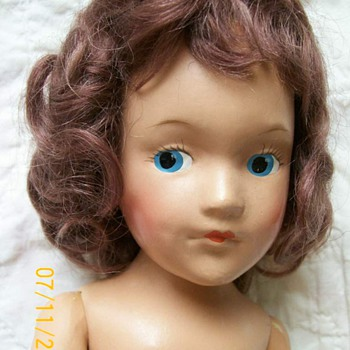 First Mary Hoyer Doll Painted eyes and  Unmarked