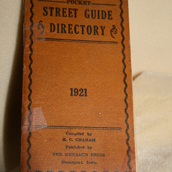 1921 Pocket Street Guide - Books