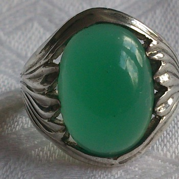 Silver ring with chrysoprase  - Fine Jewelry