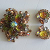 Juliana Delizza &amp; Elster Demi Parure Pin &amp; Earrings
