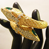 Vintage Kenneth Jay Lane Double Snake Bypass Bangle