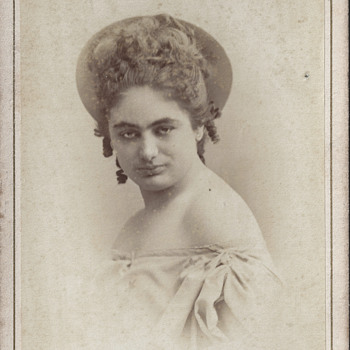 Mademoiselle E. Bergez CDV by Disdéri of Paris, France