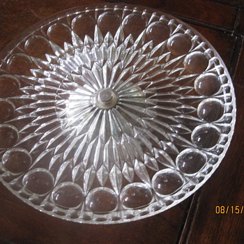 cake stand with metal foot - Glassware