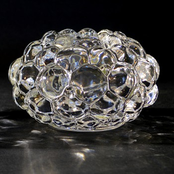 Orrefors Crystal Raspberry candle holders