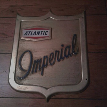 Atlantic Imperial Gas Pump Sign - Petroliana