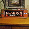 1940s Counter Top or Hanging Clarion Radio Neon sign