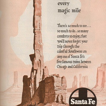 1952 - Sante Fe Railroad Advertisement - Advertising