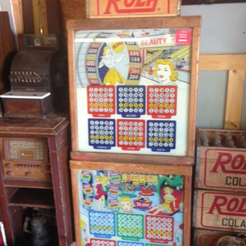 Bingo Pinball Backs - Coin Operated
