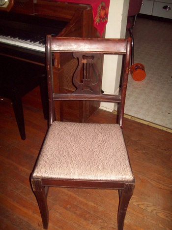 Vintage Early 1940 39 S Lyre Back Dining Room Chairs Collectors Weekly