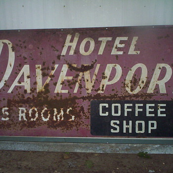 Hotel Davenport  Sign - Signs
