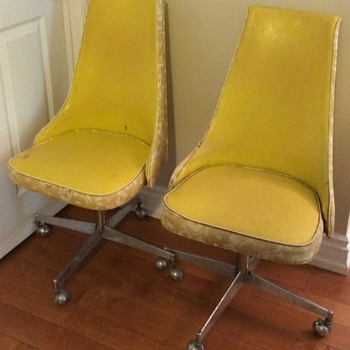 Yellow 1960 chairs.