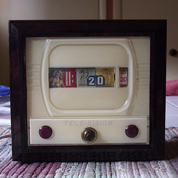 Cheeky Tele-Vision/Pennwood Model #700 Pin Up Clock, April 1957 - Mid-Century Modern