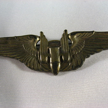 WWII-  US Wings & Nazi Wound Badge - Military and Wartime