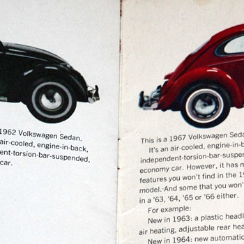 1967 VW Bug Brochure - Advertising