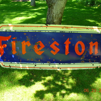 1951 Firestone sign - Advertising