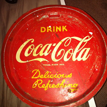 Coca-Cola tray (1941-?)