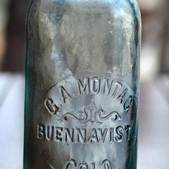 "G. A. Montag, ""Buennavista, Colo."" Hutchinson soda bottle, 1889 - Bottles"