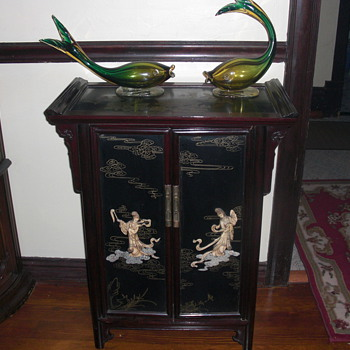 black lacquer furniture - Asian