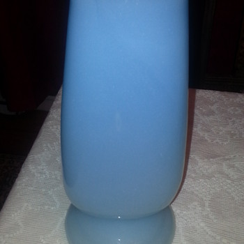 BLUE TWO TONE GLASS VASE
