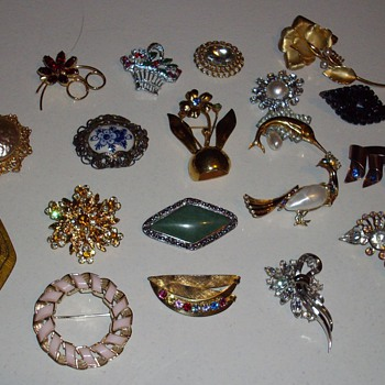 Recent brooches.