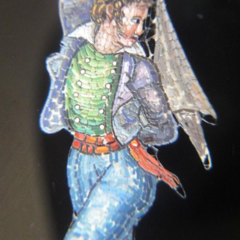 Micro Mosaic brooch set in 18K called: My private dancer!