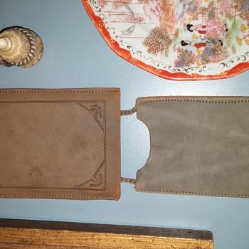 Meiji tobacco pouch with gourd netsuke