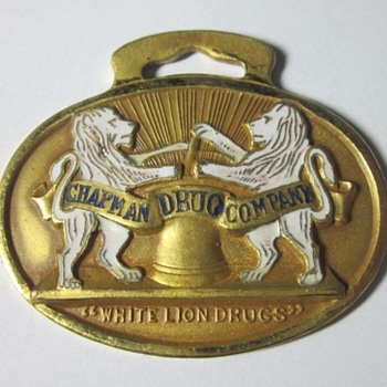 1912 Scarce Chapman Drug Company Watch Fob