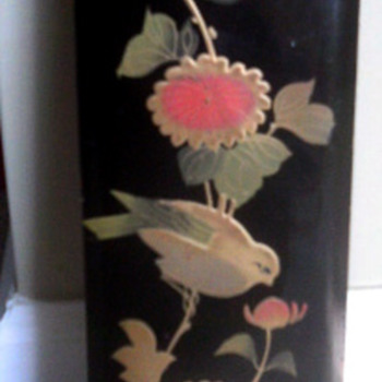 Beautiful painted Bird box - Asian