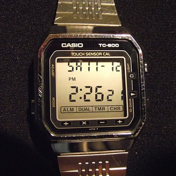 1986-casio tc 600-touch sensor calculator/watch-lcd quartz.