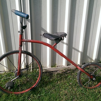 Vintage high wheel style kids bike