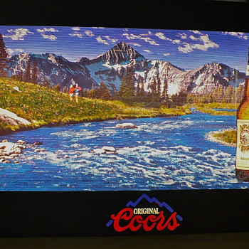 Coors running river sign