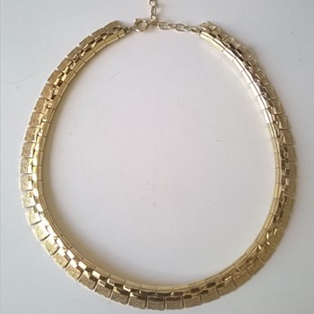 Retro Period Gold Double' Necklace  - Costume Jewelry