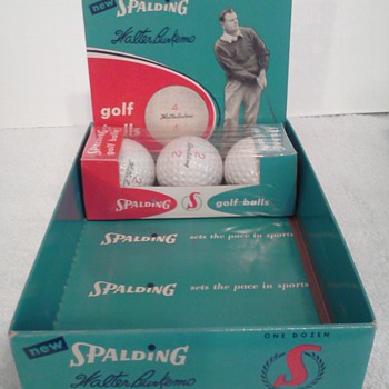 Walter Burkemo Spalding Signature Golf Balls