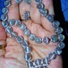 Vintage Deco Catseye Moonstone Silver Full Parure Necklace Earring Bracelet Ring